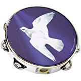 Remo Tambourine, 8 Diameter, 8 Pairs Jingles x 1 Row, Religious Dove' Graphic