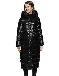 美国Fall Love女士冬季新款长款羽绒服高领加厚保暖时尚羽绒大码外套
