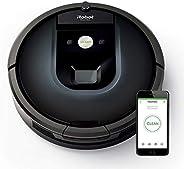 iRobot Roomba 981 app控制(高效清洁,污垢检测,清洁所有硬地板和地毯涡轮模式,适合清理宠物毛发,无线)深夜蓝