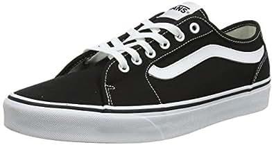 VANS 范斯 男式 Filmore Decon 运动鞋 黑色(咖啡色)黑色/白色 187) 5.5 (38.5 EU)