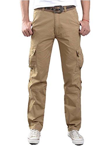 D611アバクロンビーマルチポケットオーバーオールサブ軍事男性の綿カジュアルパンツ緩い大きなヤード長い春と秋の薄いセクションパンツオフロードアウトドアウェアY2172