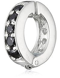 cenote 【银饰品】 耳夹 黑色氧化锆 白色氧化锆 15352000
