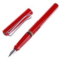 LAMY 凌美 safari狩猎者极细EF尖墨水笔(钢笔) 红色(标配吸墨器 不含墨水)