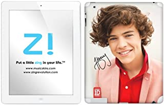 Zing Revolution One Direction Premium Vinyl Adhesive Skin for iPad 2, iPad 4, Harry Image, MS-1D20351