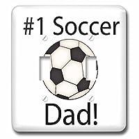3dRose lsp_213932_2 足球,带 #1 Soccer Dad 双拨动开关