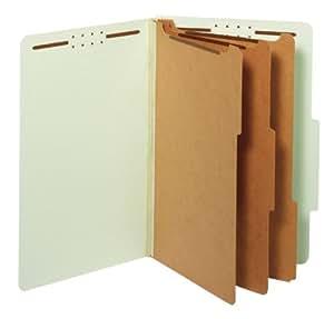 Pendaflex 分类文件夹,2 个隔层,2 个扣件,合法尺寸,黄色,10 个盒子 (29034P) 浅绿色