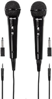 Thomson 00131772 2x 动态麦克风 M135D(双装,腎特性,3.5 毫米插孔插头,电缆长度 3 米)黑色
