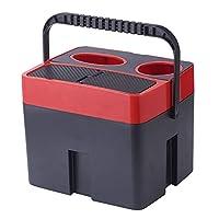 JSCARLIFE 便携式垃圾桶 垃圾桶 多功能储物盒 饮料杯架 储物盒 罐架