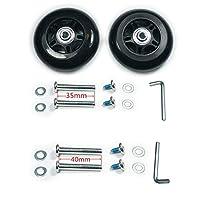 GSHFIGHTING 耐磨静音行李箱替换轮 w/ABEC 608zz 滑板户外滑板维修套装 2 轮套装