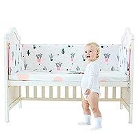 HePesTer 婴儿加厚婴儿床保护垫 165英寸(约165厘米)长,3件装,1005棉质婴儿便携式婴儿床保护垫,可机洗 Cactus