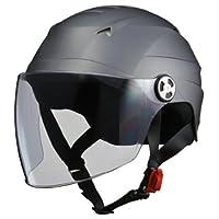 LEAD領先工業 摩托車頭盔 露臉式 SERIO RE40帶防護帽半盔 均碼(57~60cm以下)RE-40 F RE-40