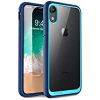 iPhone XR 手机壳,SUPCASE 【独角兽甲壳系列】优质混合保护透明手机壳适用于 Apple iPhone XR 6.1 英寸 2018 版本SUP-iPhoneXR-6.1-UBStyle-Blue 蓝色