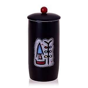 预售乾唐轩活瓷 吉祥高杯 (无光黑·彩釉)