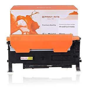 PRINT-RITE 墨盒 适用于三星 CLT-K409S CLT-C409S CLT-M409S CLT-Y409S CLT-Y409S-Yellow