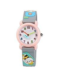 Venhoo 儿童手表 3D 可爱卡通防水硅胶儿童学步儿童手腕手表时间老师礼物 适合 3-10 岁女童