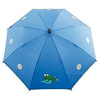 Euroschirm 德国进口风暴伞 欧洲户外伞 防紫外线 儿童直柄伞超轻安全雨伞 带独特反光安全设计,增加了雨天和夜晚在使用时的可见性,减少事故发生几率 (蓝色)