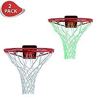 ETCBUYS 1 夜光篮球网和 1 个重型网替换物 -2 包 - 户外网和篮球框配件,外部篮球的标准规定尺寸,儿童篮板和篮筐