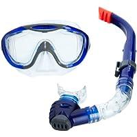 Speedo 速比涛 中性 潜水套装 Glide Mask Snorkel Set 8-016585052 灰色 均码