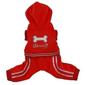 Pooch Outfitters 狗狗家居服和睡衣系列   广泛选择舒适睡衣、连帽衫、套头衫、工装服   适合小号、中号和大型犬 XXS