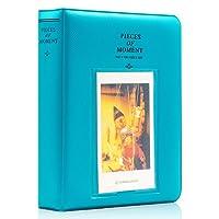 Ablus 64 口袋迷你相册适用于 Fujifilm Instax Mini 7s 8 8+ 9 25 26 50s 70 90 即时摄像机和姓名卡 64 Pockets 蓝*