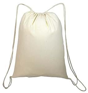 Shop4bag Color Me 耐用棉质抽绳袋非常适合着色! 天然