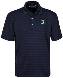 NCAA 北卡罗来纳州威尔明顿海鹰队男式纹理条纹高尔夫球衫,经典*蓝,XXL 码