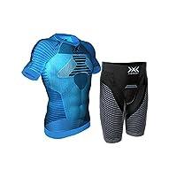 【瑞士】X-BIONIC 男士 越野跑/跑步 紧身 效能跑步能量套装【短袖+短裤】 80506892059