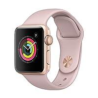 Apple Watch Series 3 智能手表 38mm GPS 金色铝金属表壳 粉砂色运动型表带 MQKW2CH/A