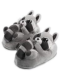 Corimori 1847 - 动物造型拖鞋,毛绒短靴,儿童尺码 9-2,女士尺码 4-13(各种型号)