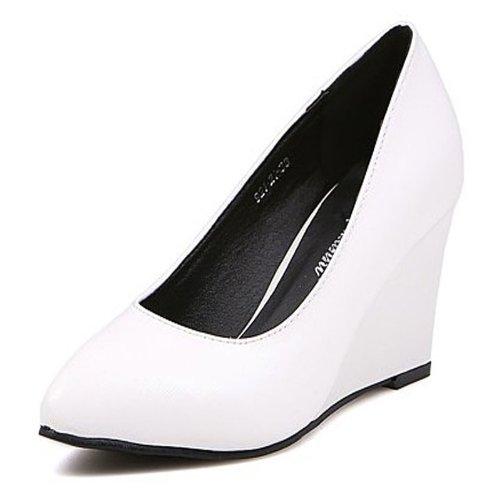 2014春季新款简约坡跟尖头单鞋坡跟单鞋高跟鞋四季鞋套脚鞋女鞋单鞋春秋鞋