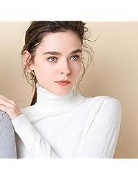 唐岚 高翻领平面纯色针织衫女2018秋冬新款修身打底羊毛衫长袖