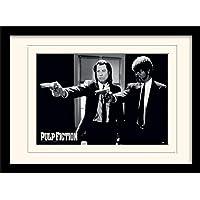 Pulp Fiction Guns Mounted and Framed Print,多色,30 x 40 cm