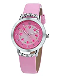 PASNEW girls children watches analog-digital PU Leather 粉色 OTH-PASNEW-EASY-003 watches