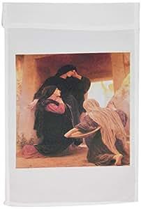 BLN 基督教 & 圣经 FINE ART 系列–THE THREE marys AT THE tomb 来自 adolphe 但丁与维吉尔》–旗帜 12 x 18 inch Garden Flag