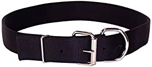 Hamilton Deluxe Double Thick Nylon Cow Collar, 1-3/4 by 40-Inch, Black