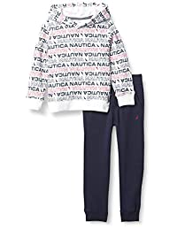 Nautica Set (KHQ) 男孩 2 件套连帽套头衫裤子套装
