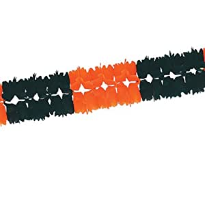 beistle 55180-bw 12只装宴会 garlands 橘色/黑色