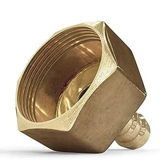 软管接头 1.91 厘米内螺纹 - 12 毫米的巴状配件用于维修,金属软管真空仪表配件,梨形配件,内部黄铜管配件
