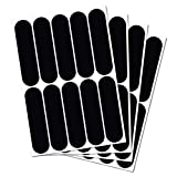 B REFLECTIVE,10 张复古反光贴纸套件,夜间可见*,通用粘合剂适用于自行车/婴儿车/行李/头盔/摩托车/滑板车/玩具,7 x 1.8厘米,黑色 黑色 BR10black7x1.8x4