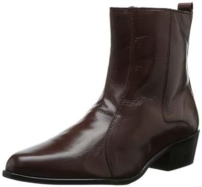 Stacy Adams 男士 Santos 平头侧拉链靴 干邑色 11.5 M US