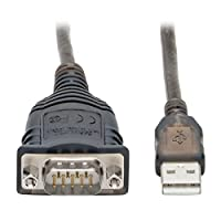 Tripp Lite USB 到 RS485/RS422 FTDI 串行适配器电缆,COM 固定,USB-A 到 DB9 M/M,兼容 Windows、Mac 和 Linux,30 英寸。 (U209-30N-IND) 保修和延长保修