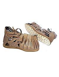 男士角斗士凉鞋 罗马 Caligae 凉鞋 Centurian 棕色皮革 Caliga 男式中世纪希腊斯巴达服装