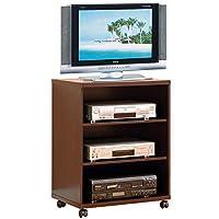 Benzara Splendid 打印机脚轮,棕色电视支架