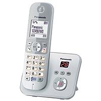 Panasonic 松下 KX-TG6821GS DECT 无绳电话 (4.6厘米 (1.8 英寸) 显卡 带语音答录机 per-银色