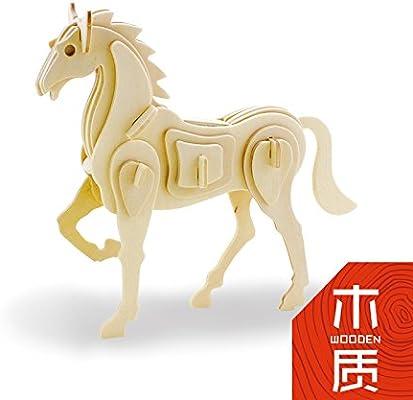 孩派3d木质立体拼图 智力玩具diy益智拼装模型 儿童各种动物生肖 (jp2