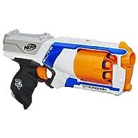 Hasbro 孩之宝 Nerf 热火 强袭精英玩具冲击枪,带有旋转枪管,满贯火力和6个面向儿童,青少年和成人的官方热火精英飞镖