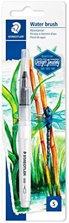 STAEDTLER 水彩画笔,绘画和混合,均匀的水位,结实的尼龙笔尖,形状稳定,949 BK-1-C