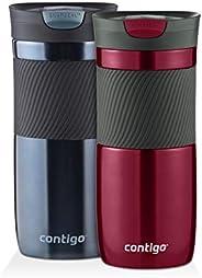 Contigo Byron Snapseal 旅行杯,473.12 毫升,2 只装 Spiced Wine/Stormy Weather 16盎司 2067745