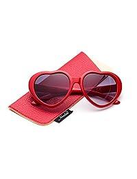 Newbee Fashion - Kyra 女童时尚心形太阳镜复古可爱心形太阳镜适合女孩紫外线防护
