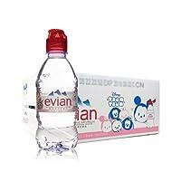 Evian 依云 天然矿泉水塑料瓶儿童瓶 整箱装 330ml*24(法国进口)